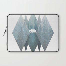 Misty Forest Mountain Bear Laptop Sleeve