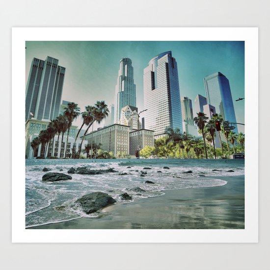 Surf City L.A. Art Print
