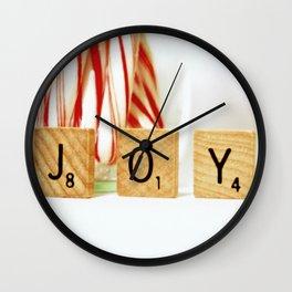 Holiday Joy Wall Clock