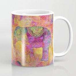 Elephant Pattern colorful orange pink Coffee Mug