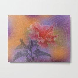 zen pattern hibiscus Metal Print