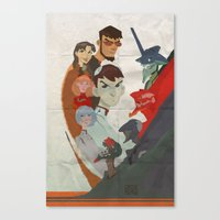 evangelion Canvas Prints featuring Evangelion by wwww