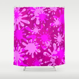 Slime in Hot Pinks Shower Curtain