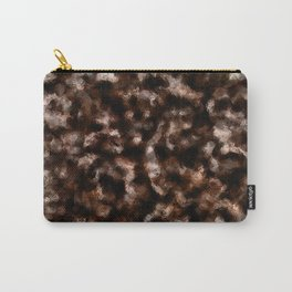 Brown Foil Abstract Pattern Carry-All Pouch