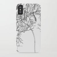 snowboarding iPhone & iPod Cases featuring snowboarding on powder by Miyuki Sakurai