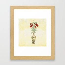 Poppies in Golden Vase Framed Art Print