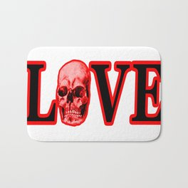 Love Red Skull The MUSEUM Zazzle Gifts Bath Mat