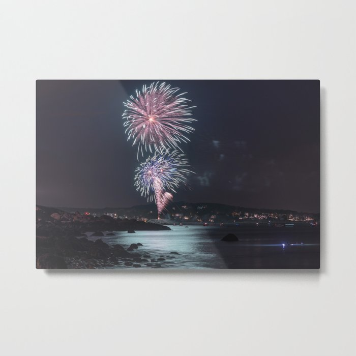 Rockport Firework at Old Garden Beach Metal Print