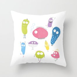 Bacteria's life Throw Pillow