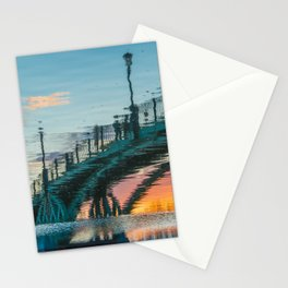 the reflection of the pedestrian bridge Stationery Cards
