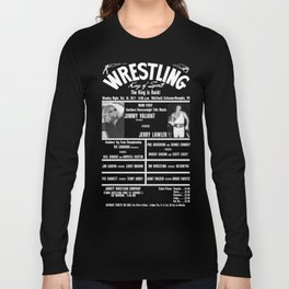 #4-B Memphis Wrestling Window Card Long Sleeve T-shirt
