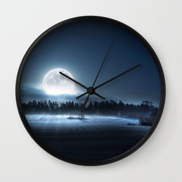 When the moon wakes up Wall Clock