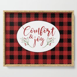 Modern Holiday Plaid Serving Tray