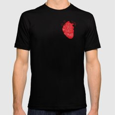 Este es el espacio que dejaste al marcharte (this is the space you left) Mens Fitted Tee Black SMALL