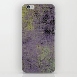 Darkened Sky - Textured, abstract painting iPhone Skin