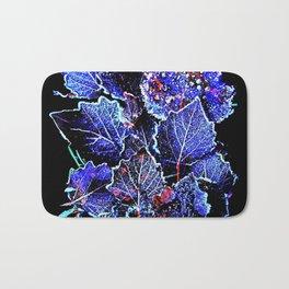 Rime Leaves Abstract Bath Mat