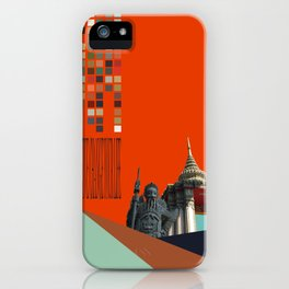 Asian Sculpture and Buddhist Temple iPhone Case