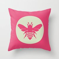 beetle Throw Pillows featuring Beetle by Lídia Vives