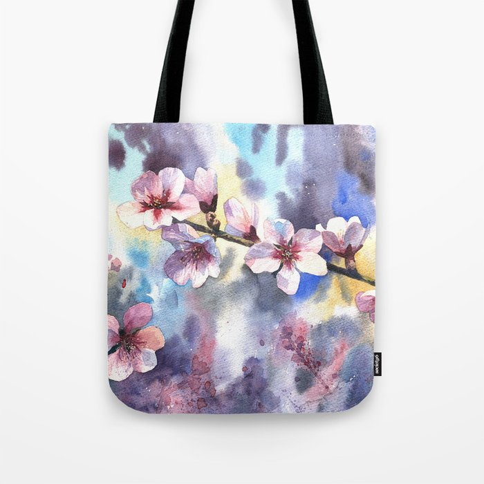 Blossoming almond Tote Bag