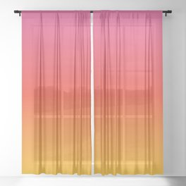 pink red orange yellow evening sky gradient Sheer Curtain