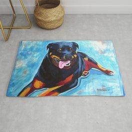 Earl the Rottweiler Pop Art Painting Rug