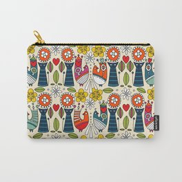 Swedish folksy cats and birds Carry-All Pouch