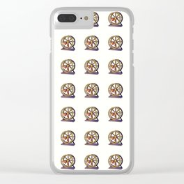 Cute Funny Hamster Pattern Illustration Clear iPhone Case