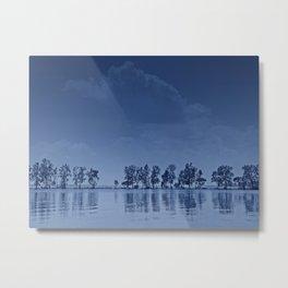 Blue Tree Line Metal Print