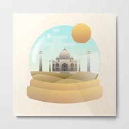 Sand Globe Metal Print