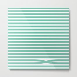 Stripes - Baby Green Metal Print