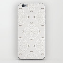 Snow Rosette Lace iPhone Skin