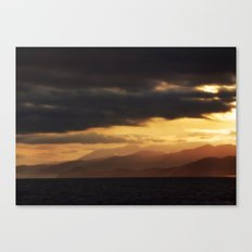 Pacific Mountains Sunrise Canvas Print