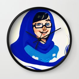 Blue Boy Wall Clock