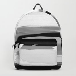 Soft Determination Black & White Backpack