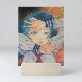 Japanese Schoolgirl  Mini Art Print