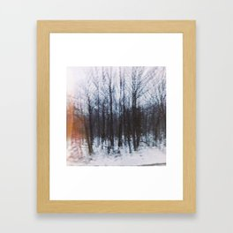 Altered Drive-By Forest Framed Art Print