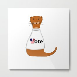 Oliver The Otter Says Vote! Metal Print