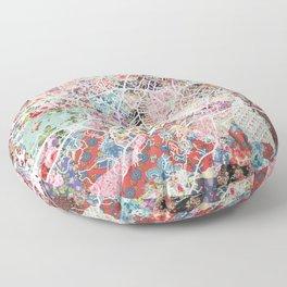 Charlottesville map Virginia Floor Pillow