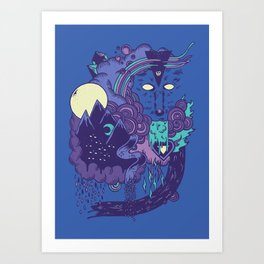 The Leader of the Pack Art Print