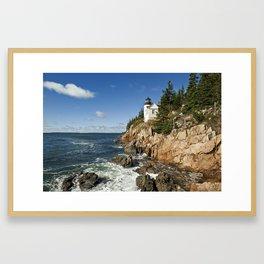 Bass Harbor Lighthouse Framed Art Print