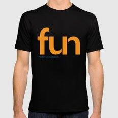 Fun: Friday's Unexpected Nuts Black MEDIUM Mens Fitted Tee