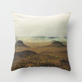 Southwest Mountains with Smoke Throw Pillow