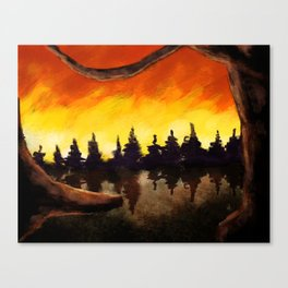 Forest on Fire Canvas Print
