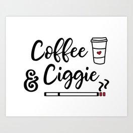 Coffee & Ciggie Art Print