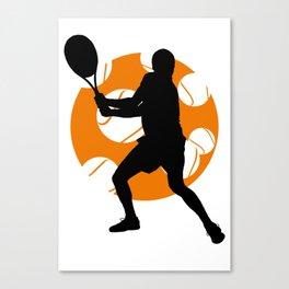 TENNIS Clay Backhand Balls Canvas Print