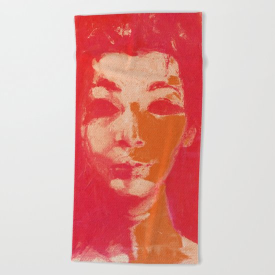 Colorful Woman 1 Beach Towel