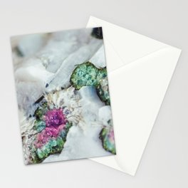 Colorful watermelon tourmaline crystal, macro #society6 Stationery Cards