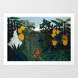 Henri Rousseau - The Repast of the Lion Art Print