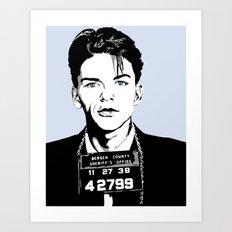 Frank Sinatra's mug shot Art Print