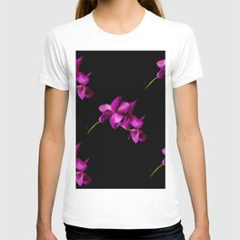 Dark Orchid Floral T-shirt